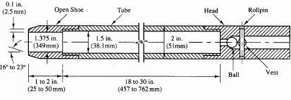 Amostrador padrão para ensaio SPT