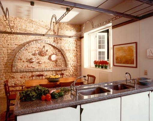 decoracao cozinha e copa : decoracao cozinha e copa:Copa e cozinha integradas através da bancada comum, facilitando a