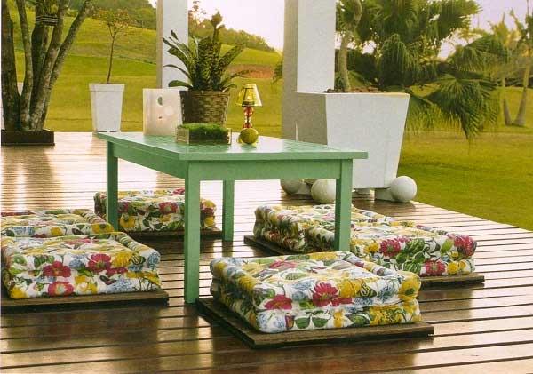 A mesa do jardim! F?rum da Constru??o