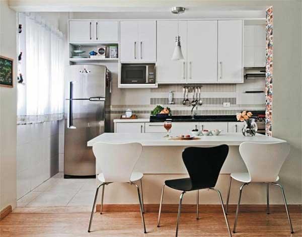 decoracao de cozinha integrada a sala de jantar:Cozinha integrada com a sala