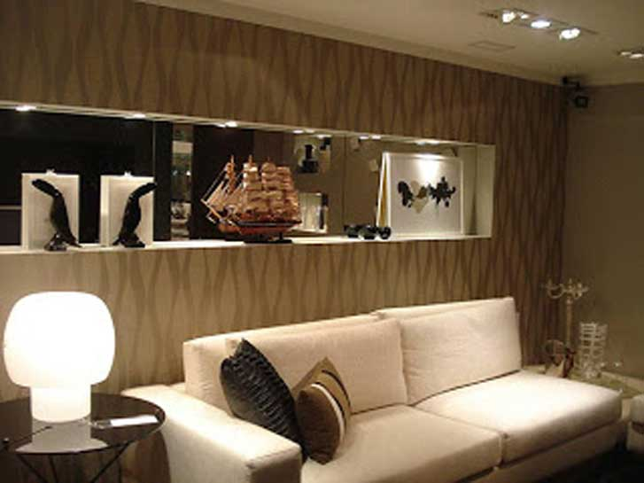 Papel de parede paredes de papel f rum da constru o - Paredes modernas para interiores ...