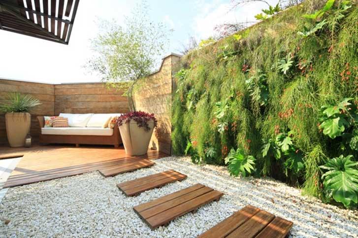 jardim vertical moderno:Blocos cerâmicos ou de cimento – usando o mesmo princípio dos