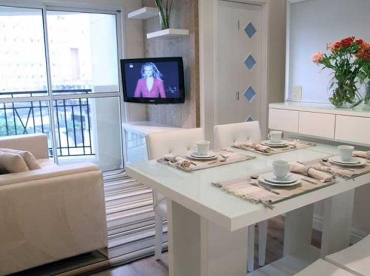 """decoracao de apartamentos pequenos sala de jantar : decoracao de apartamentos pequenos sala de jantar: de armário para guardar algum objeto"""", recomenda a arquiteta Hellen"""