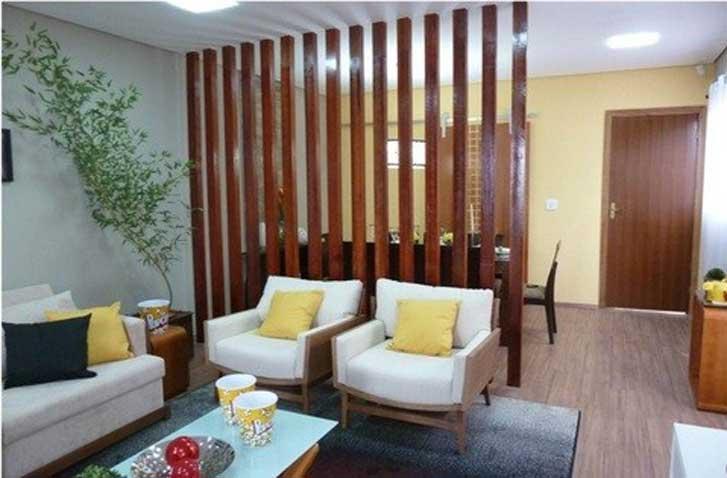 decoracao de interiores pequenos ambientes:Setorizar um ambiente significa marcar visualmente os espaços, sem
