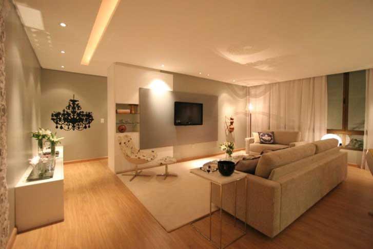 Iluminacao Para Sala De Estar E Tv ~ considerar a integração entre os dois tipos de fonte de luz e, para