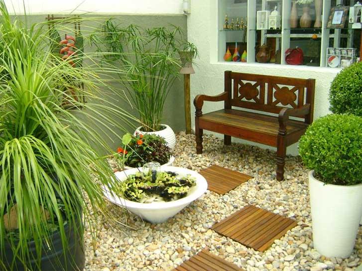 Como fazer um jardim seco f rum da constru o - Suelos para jardines pequenos ...