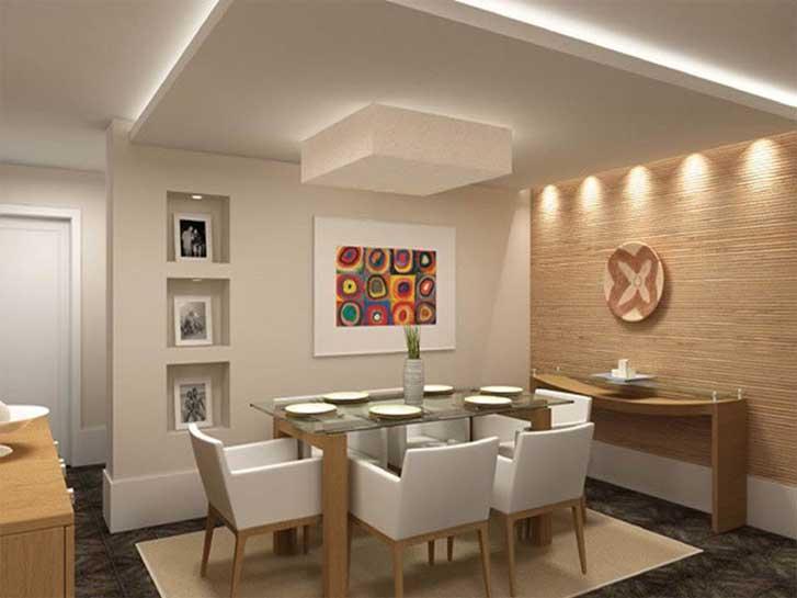 Luminarias Para Sala De Tv Pequena ~  iluminação de salas e cozinhas  Fórum da Construção